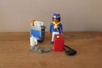 Playmobil stewardess met karretje  4761