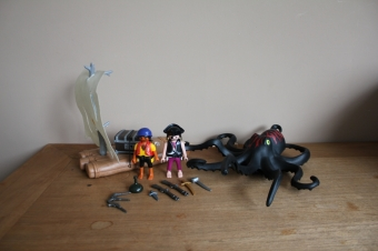 Playmobil inktvis met piraten vlot 4291