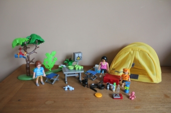 Playmobil camping / tent set 5435