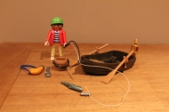Playmobil piraat met hengel in bootje 3937