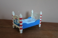 Playmobil blauw/wit bed van set 5333.